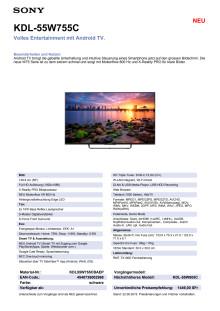 KDL-55W755C von Sony