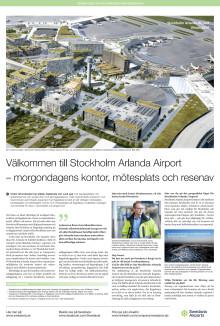 Stockholm Arlanda Airport - morgondagens kontor, mötesplats och resenav