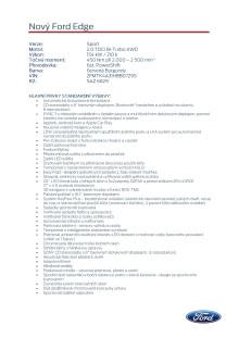 Specifikace Fordu Edge Sport