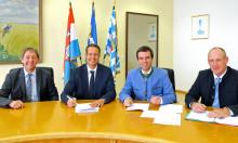 Weiding geht ans Gasnetz: Gemeinde und Bayernwerk Netz vereinbaren Erschließung und unterzeichnen Konzessionsvertrag
