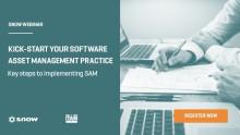 Webinar: Kick-Start your Software Asset Management Practice