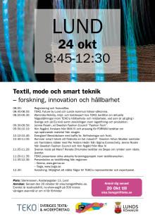 Inbjudan Textil, mode och smart teknik – forskning, innovation och hållbarhet