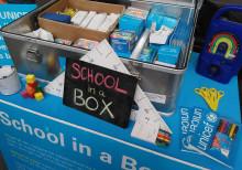Se den prisbelønnede School-in-a-box når Unicef kommer på besøg i Lyngby Storcenter