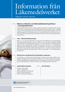 Information från Läkemedelsverket nummer 2 2017 ute nu