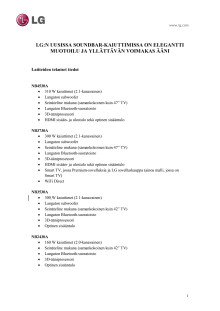 LG CES 2013 tekniset tiedot liite_soundbar-kaiuttimet