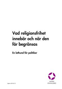 Lathund för politiker om religionsfrihet