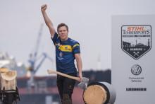 Ferry Svan ny juniorvärldsmästare i Timbersports – blir publikdragare till nordiska mästerskapen i Göteborg