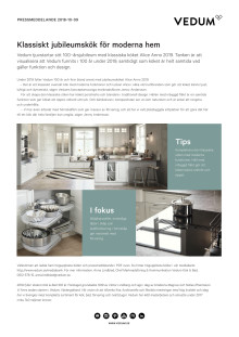 Klassiskt jubileumskök för moderna hem
