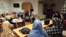 Välbesökt språkcafé i Köping