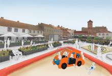 Lilla torg blir bilfri mötesplats sommaren 2020