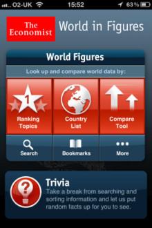 The World in Figures Economist app - värdefullt verktyg för faktainsamling