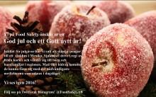 God jul och Gott nytt år önskar Food Safety AB
