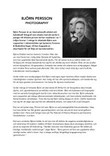 Björn Persson biografi information