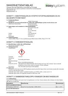 Säkerhetsdatablad | ABNET Professional | norska