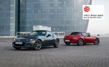 Mazda MX-5 RF erövrar den högsta utmärkelsen av Red Dot Design awards