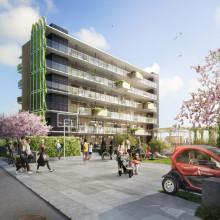 Riksbyggen om hållbart byggande och boende i nätverket Challengers Network Fastighet