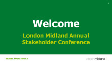 London Midland's annual stakeholder briefing 2016