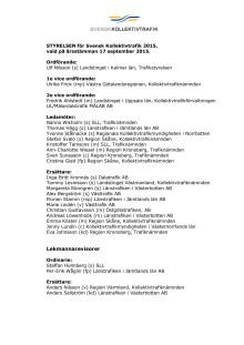 Ny styrelse Svensk Kollektivtrafik 2015