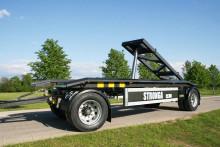 Världspremiär för ny vagn med tipp för lastväxlarflak