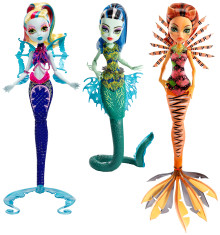 "Monster High ""Das grosse Schreckensriff"" - Leuchtende Monsterfische Puppen Sortiment"