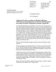Uppdrag att bereda en ansökan om tillstånd enligt lagen (1966:314) om kontinentalsockeln att utforska kontinentalsockeln utanför Forsmark i Östhammars kommun, Uppsala län
