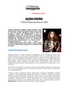 Alexa Chung - L'Oréal Professionnel tähtikasvo