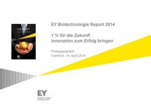 Präsentation zum Deutschen Biotechnologie-Report 2014