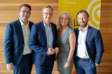 Närings- och innovationsminister Mikael Damberg testade e-hälsa på Sigma i Göteborg
