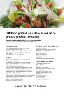 Jamie Oliver summer menu - main course