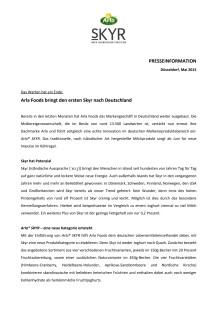 Arla Foods bringt den ersten Skyr nach Deutschland
