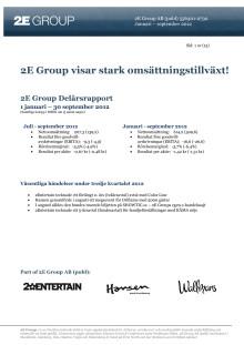2E Group visar stark omsättningstillväxt!