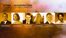 Landsbygdsministern diskuterar risker med svenska skogsnäringen