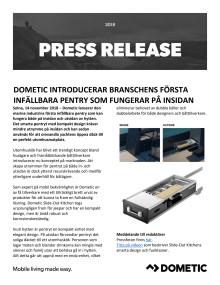 Dometic Introducerar Branschens Första Infällbara Pentry Som Fungerar På Insidan Och Utsidan