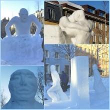 Startskott för Umeåmästerskapen i snöskulptur