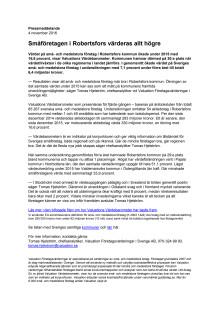 Värdebarometern 2015 Robertsfors kommun