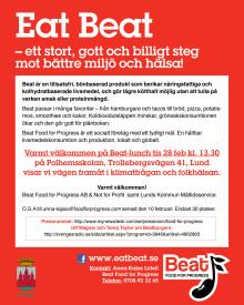 Inbjudan Eat Beat Lund 28 februari