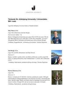 Rodd-teamet från Jönköping University