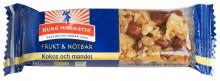 Kung Markatta sponsrar med med ekologiska frukt- och nötbars på 4good event!
