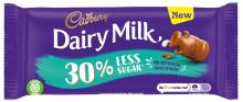 Cadbury Dairy Milk expands its range with new 30% less sugar choice
