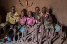Barnen kämpar tillsammans mot hungern i Sydsudan