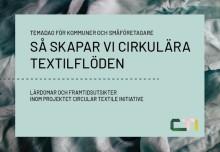 Så kan kommuner bidra till ett cirkulärt textilflöde – temadag för nya samarbeten