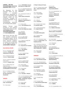 LEIPZIG - 400 TOP-Veranstaltungen 2019 - Kurzübersicht