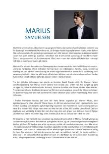 Marius Samuelsen BIO