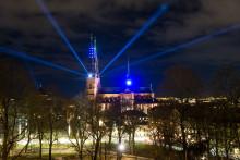 Ett år till Allt ljus på Uppsala invigs