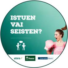 Koodari, takamus ylös tuolilta! – Eteran, Danske Bankin ja Fennian hyvinvointikampanja käynnistyy