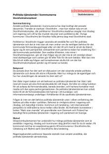Stockholmskomplexet - om de politiska tjänstemännen i kommunerna