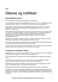 Notat Odense og trafikken