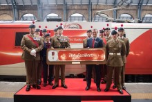 All aboard The Fusiliers Express
