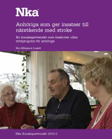 Ny kunskapsöversikt från Nka: Anhöriga som ger insatser till närstående med stroke