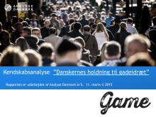 """Kendskabsanalyse: """"Danskernes holdning til gadeidræt"""""""